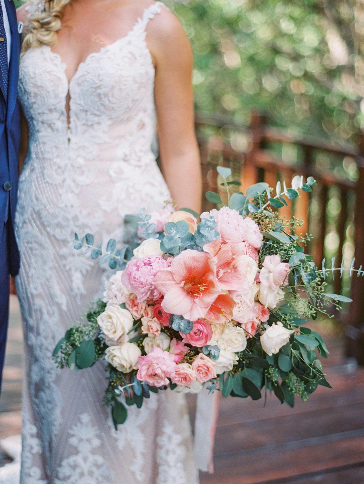 A Grand Coral Beach Club Wedding With Cotton Candy Hues Elegant