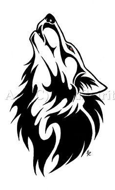 82d816ac31b2c tattoo wolf - Buscar con Google   Art   Tribal wolf tattoo, Wolf ...
