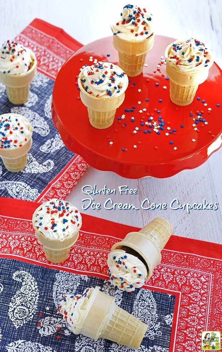 Gluten free ice cream cone cupcakes ice cream cone