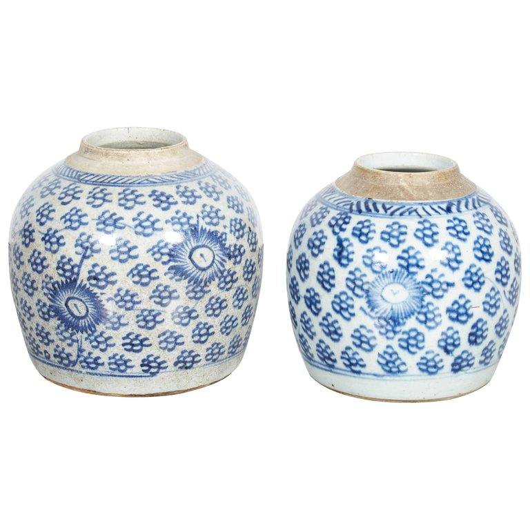Antique Chinese Porcelain Blue and White Ginger Jar