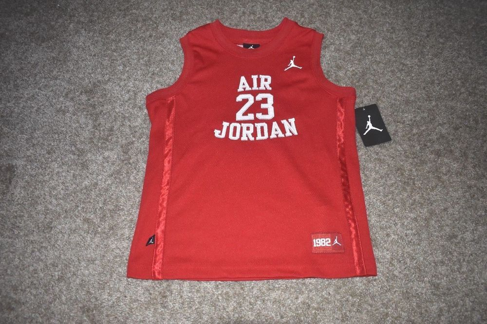 ca17d621619a0d NWT Michael Air Jordan Boys Red White Jersey   23 MJ Jumpman Size Medium  5-6  NikeJordan  Everyday