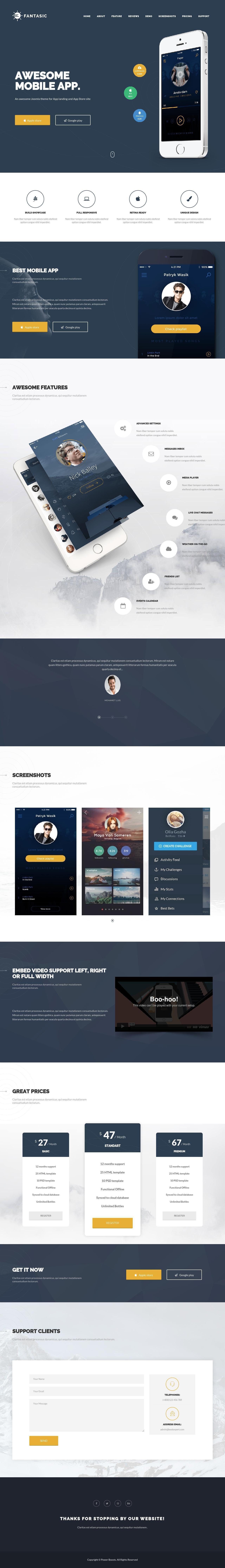 Fantasic - Multipurpose Joomla Landing Page Template | Cleaning ...
