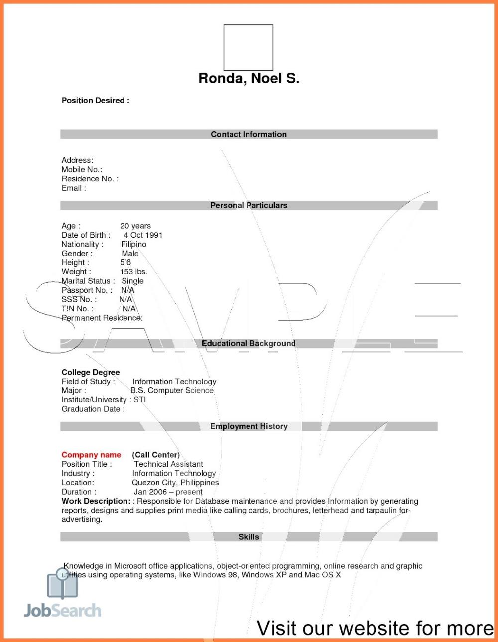 Job Resume Pdf 2020 Job Resume For Freshers In 2020 Resume Pdf Job Resume Job Resume Examples