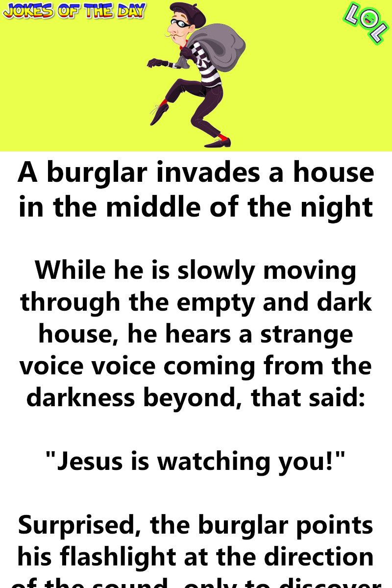 A Burglar Invades A House In The Middle Of The Night In 2020 Funny Long Jokes Burglar Laugh A Lot