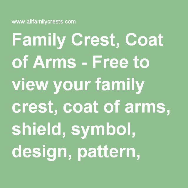Italian Last Names And Meanings: Family Crest, Coat Of Arms