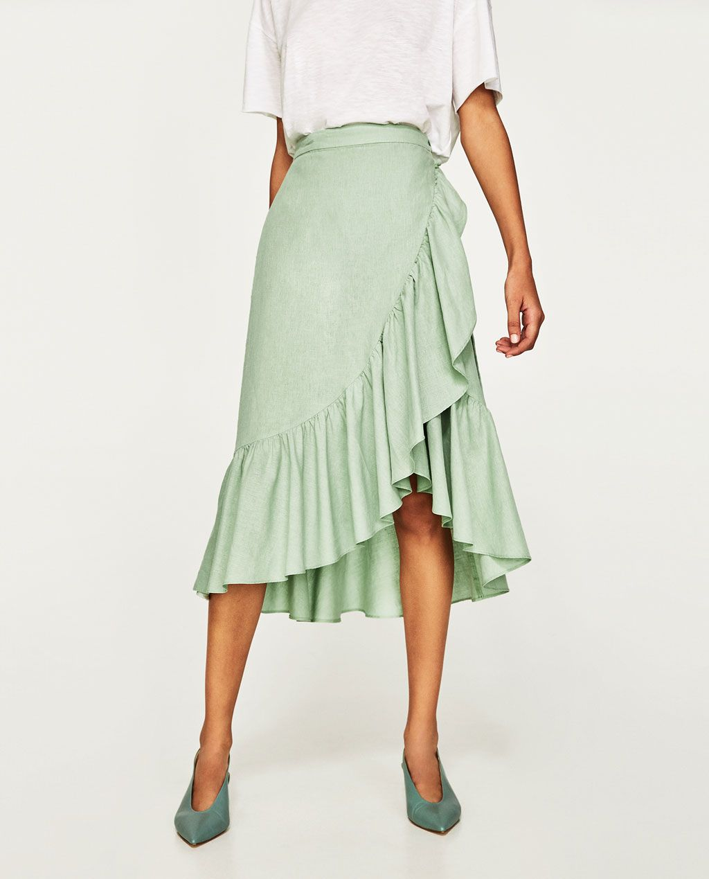 692875ed673 RUFFLED WRAP SKIRT-View All-SKIRTS-WOMAN | ZARA United States | $50 ...