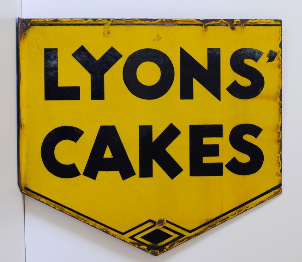Vintage lyons cakes enamel sign lyon cafes and kitchens vintage lyons cakes enamel sign would look great hanging in a kitchen cafe or buycottarizona Choice Image