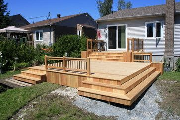 Deck And Patio Ideas Thrifty Wood Decks Designs Design Ideas Pictures Remodel And Decor Pa Small Backyard Decks Deck Designs Backyard Patio Deck Designs