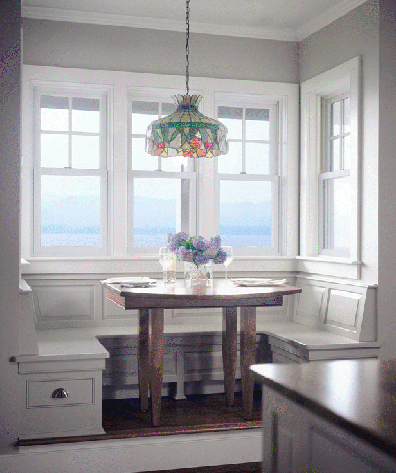A Built In Breakfast Alcove In A Shingle Style Connor Home
