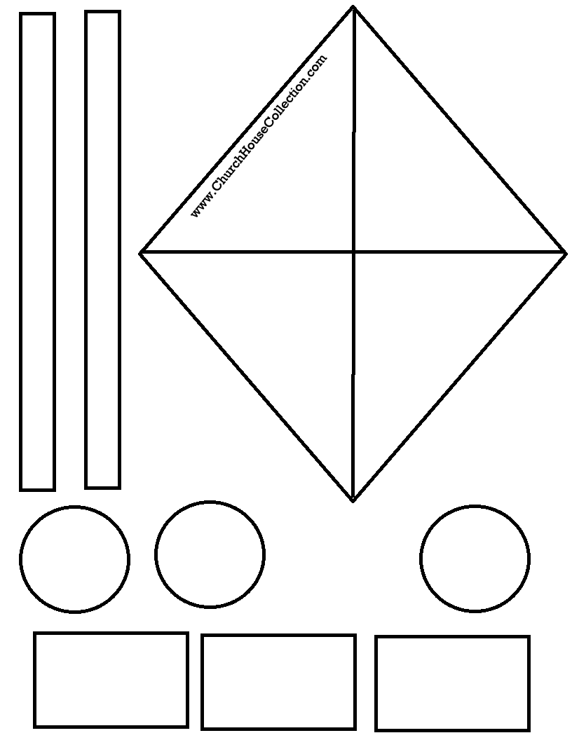 Kite Cutout Craft For Sunday School Kids James 4 10 Free Printable