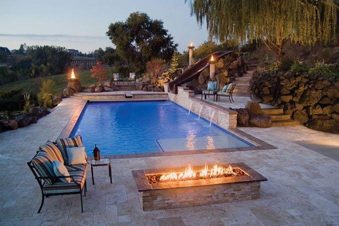 47 Delightful Stone Pool Deck Design Ideas