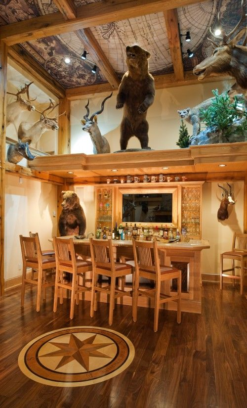 Trophy Room Design Ideas Part - 19: Trophy Room-- I Donu0027t Know If I Can Eat With Animals Hovering