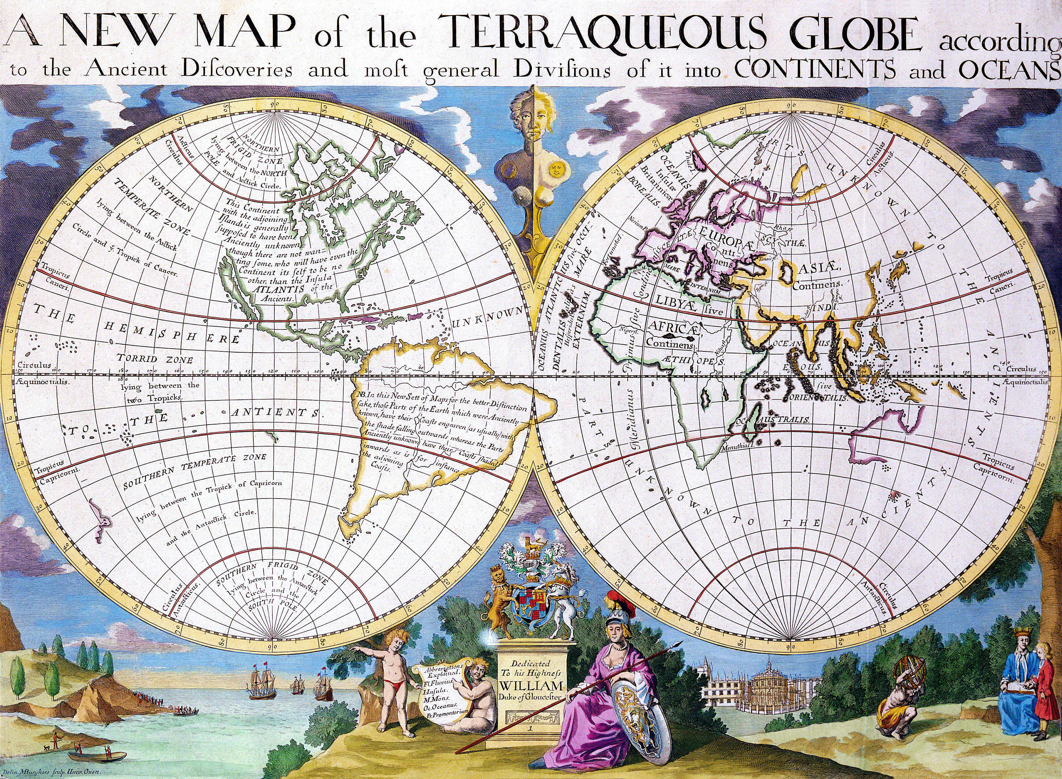 Antique maps of the world map of the world edward wells c 1700 antique maps of the world map of the world edward wells c 1700 gumiabroncs Gallery