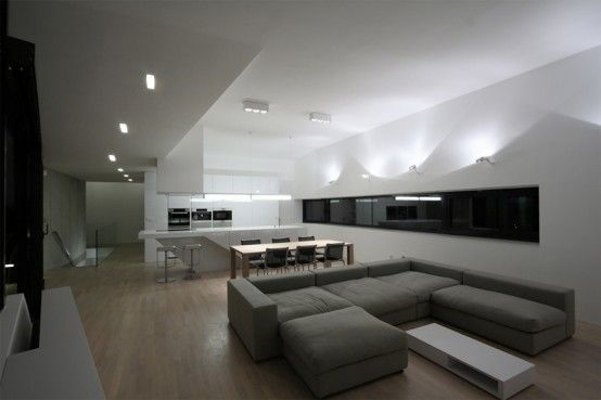 Truly Modern House Design With Cool Interior In Black And White Colors Part 33