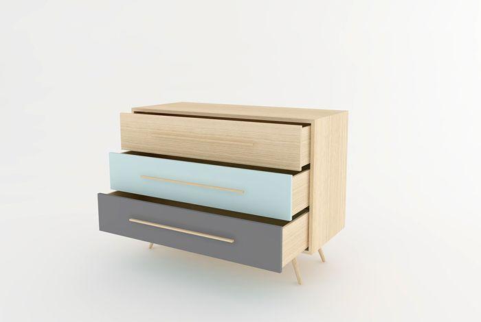 Couleurs des tiroirs (Peinture + vernis mat) Chêne clair naturel - peinture de porte de garage