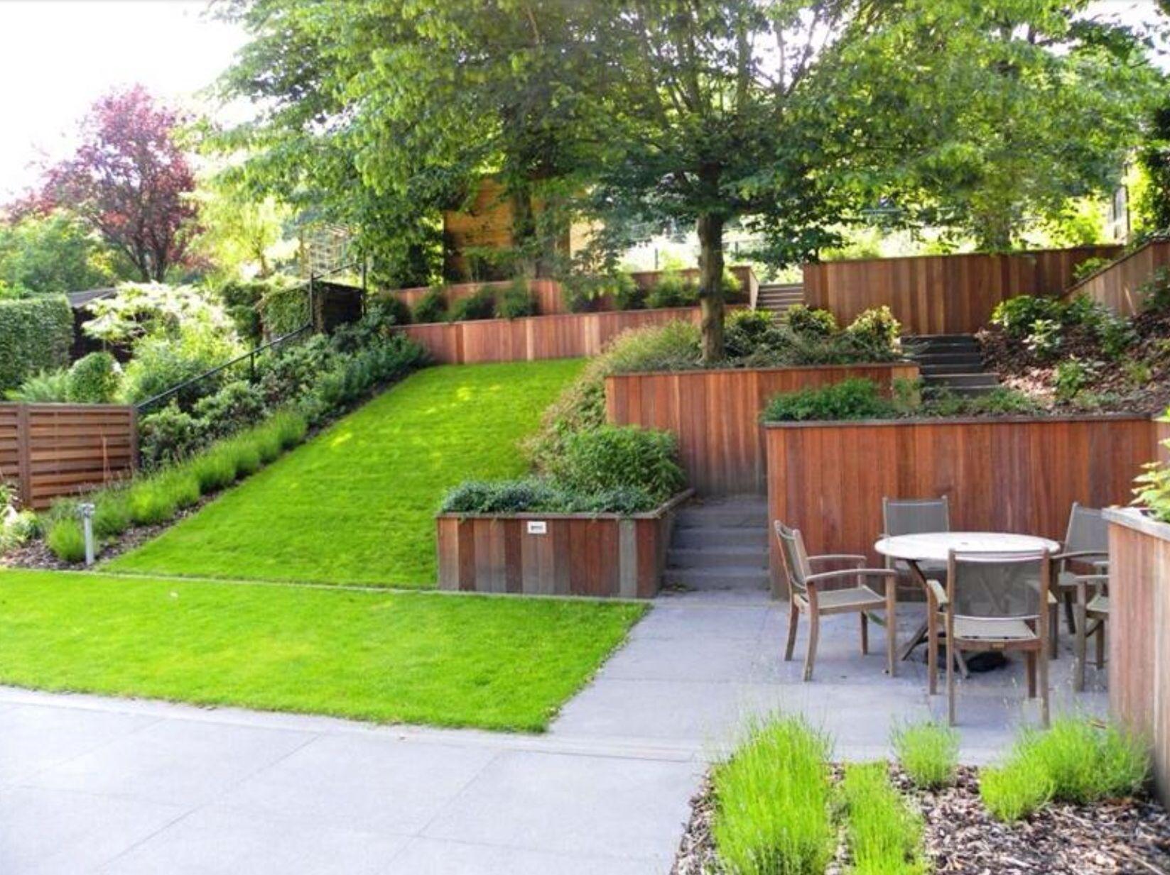 Comment Aménager Son Jardin En Pente un jardin | amenagement jardin en pente, jardin en pente