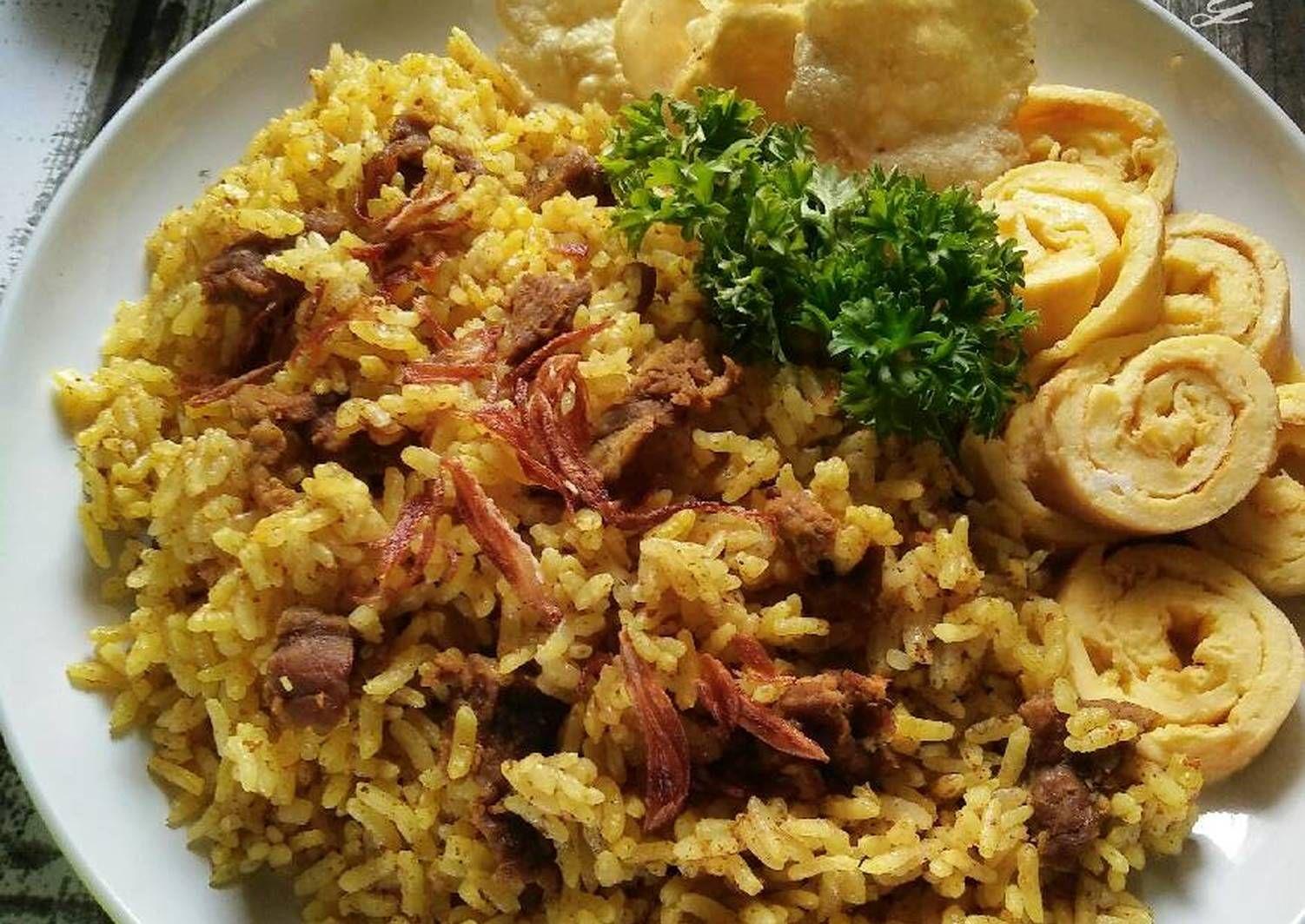 Resep Nasi Kebuli Magicom Kitaberbagi Oleh Dapurvy Resep Memasak Resep Resep Masakan Indonesia