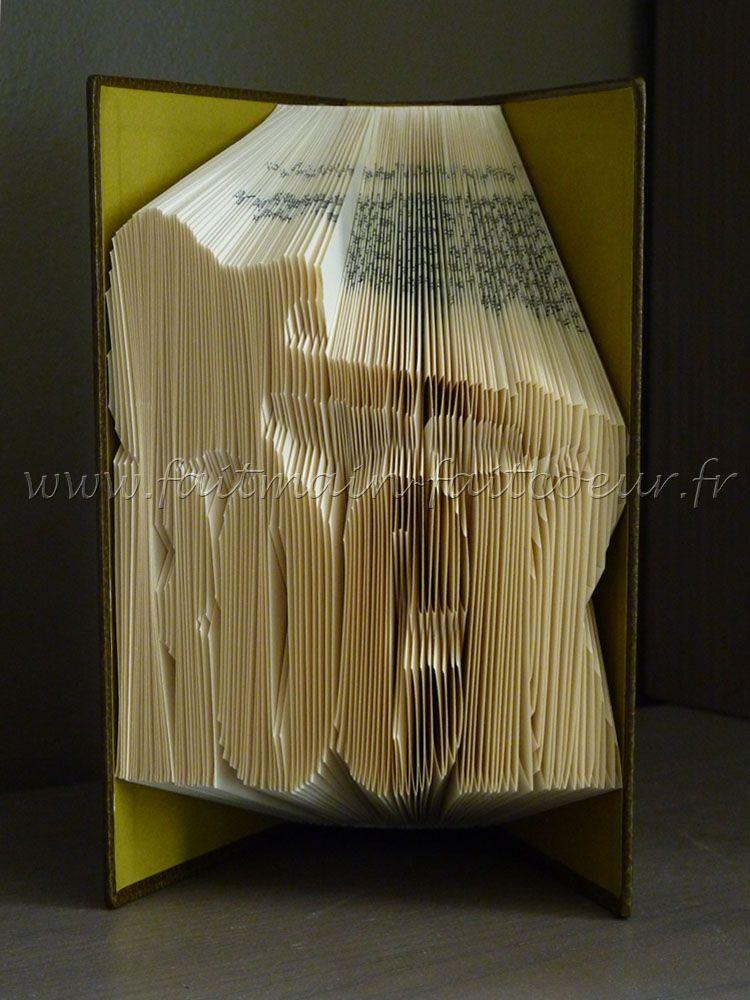 patron livre pli rock rock folded book pattern livre pli book folding book folding. Black Bedroom Furniture Sets. Home Design Ideas