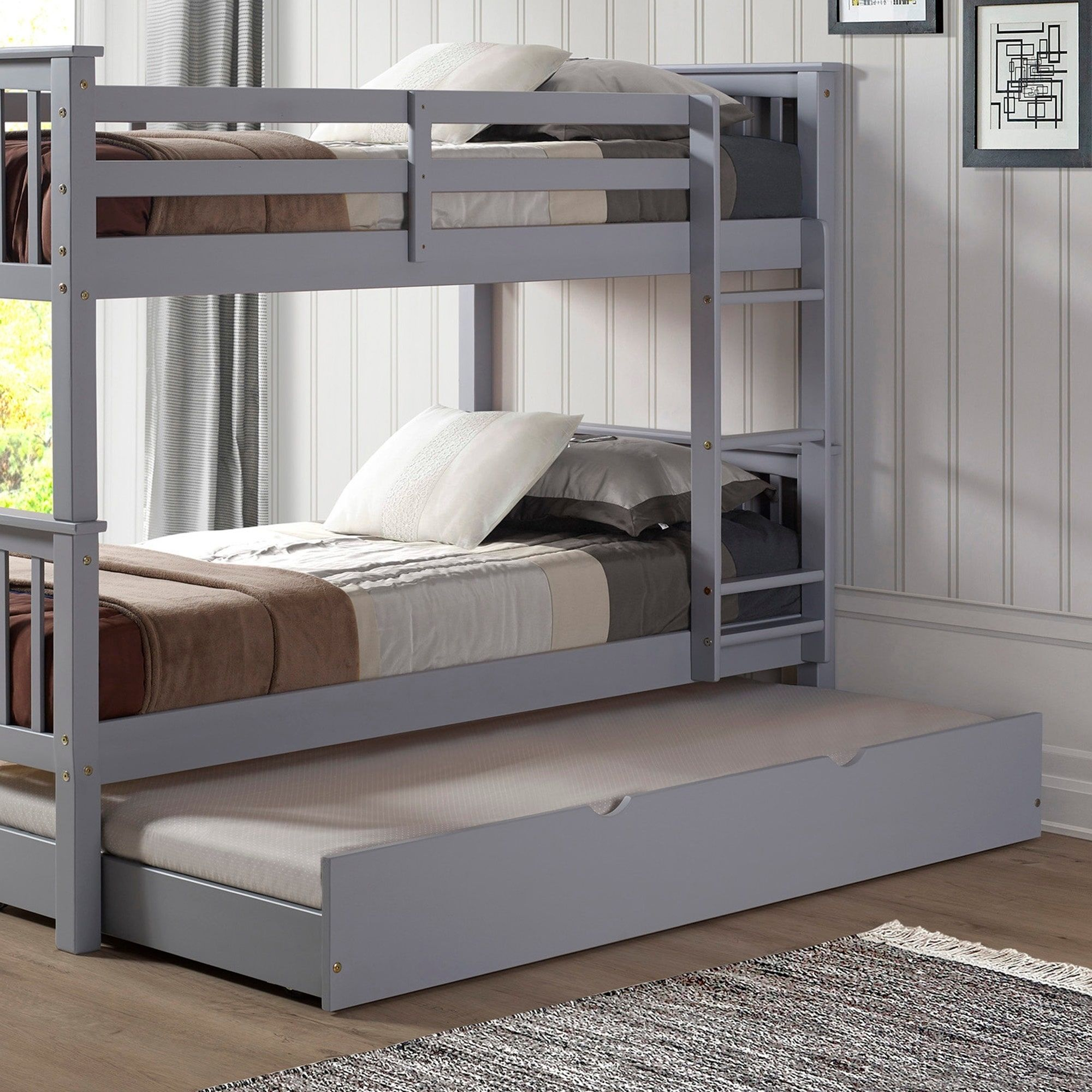 Taylor & Olive Christian Wood Rollout Twin Trundle Bed