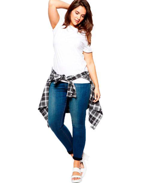 jeans wearing size Plus girls skinny