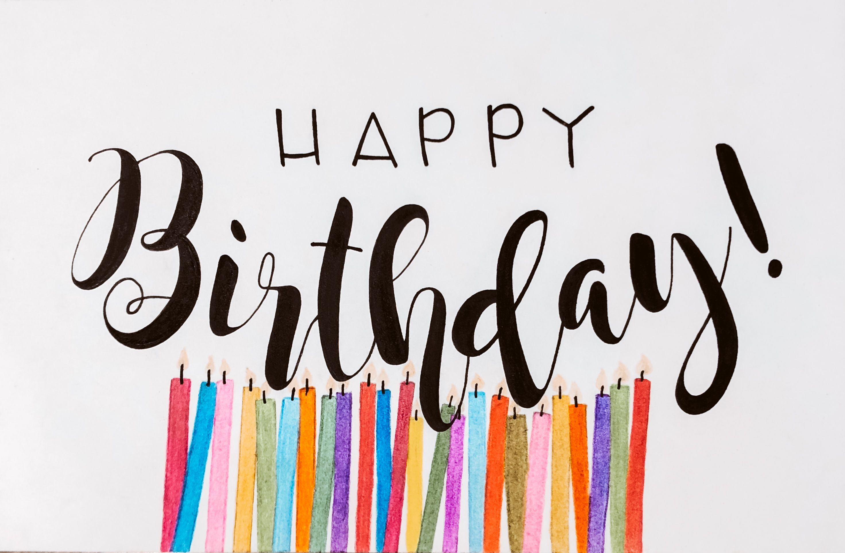 calligraphy handlettering birthdaycards  happy