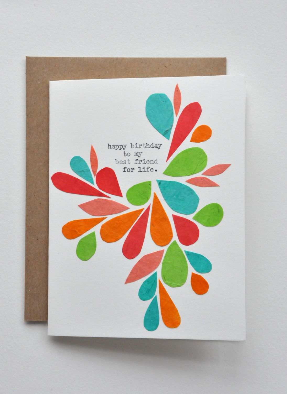 Happy Birthday - Birthday Card - Best Friend - Handmade ...