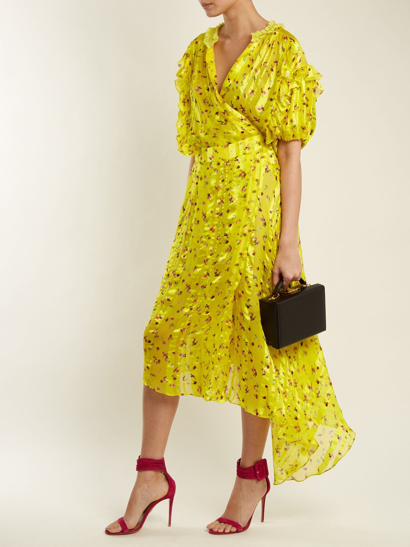 Websites Online Clarissa floral-print silk-devoré wrap dress Preen Outlet Order Buy Cheap Perfect For Sale Online ZoHEAd