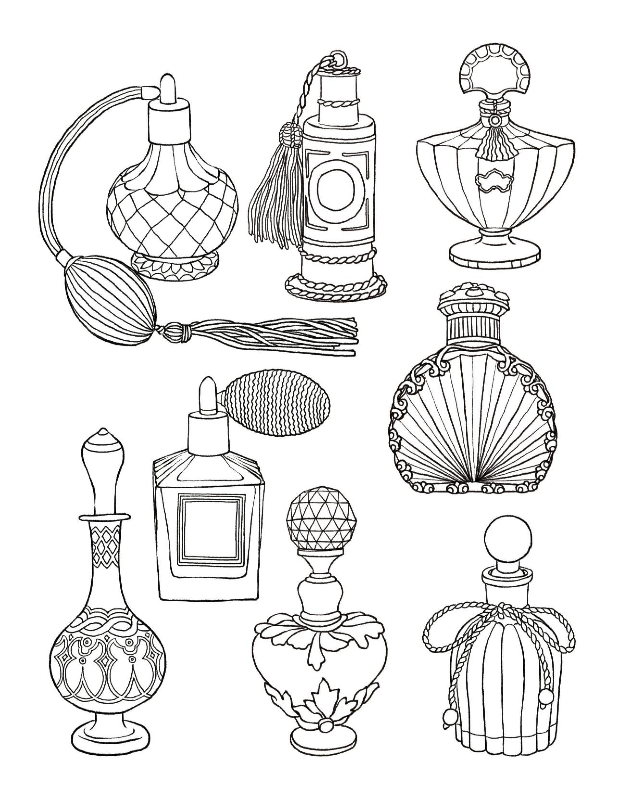 coloring pages perfume - photo#12