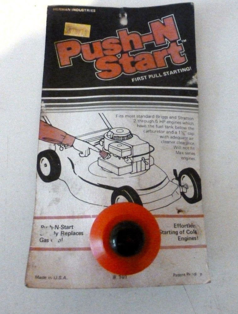 Push-N Start for Older Briggs Engines w/o Primer and Metal