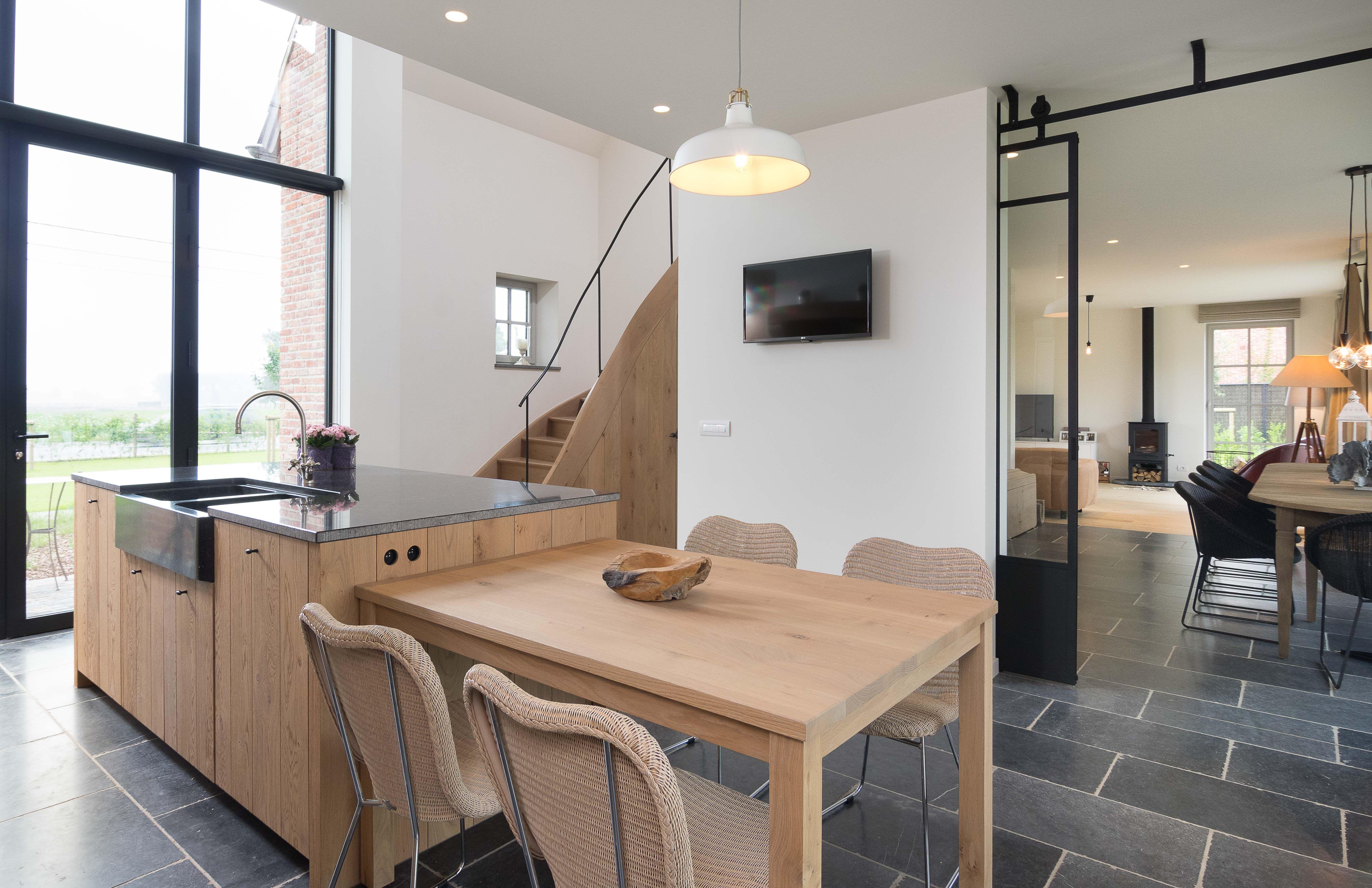 Landelijke stijlvolle eiken keuken de bosbeke   Idee u00ebn voor het huis   Pinterest