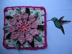 Ravelry: Granny Flor de Cactus...Cactus Flower Granny pattern by Bigú Osuna... Free pattern!