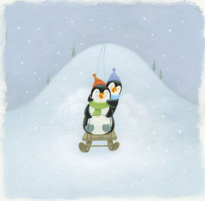 Tamsin Hinrichsen - penguins on sled