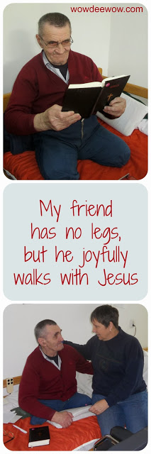 My friend Sandor reminds me that joy doesn't depend on what we have, but Who we have. Jesus changes lives!