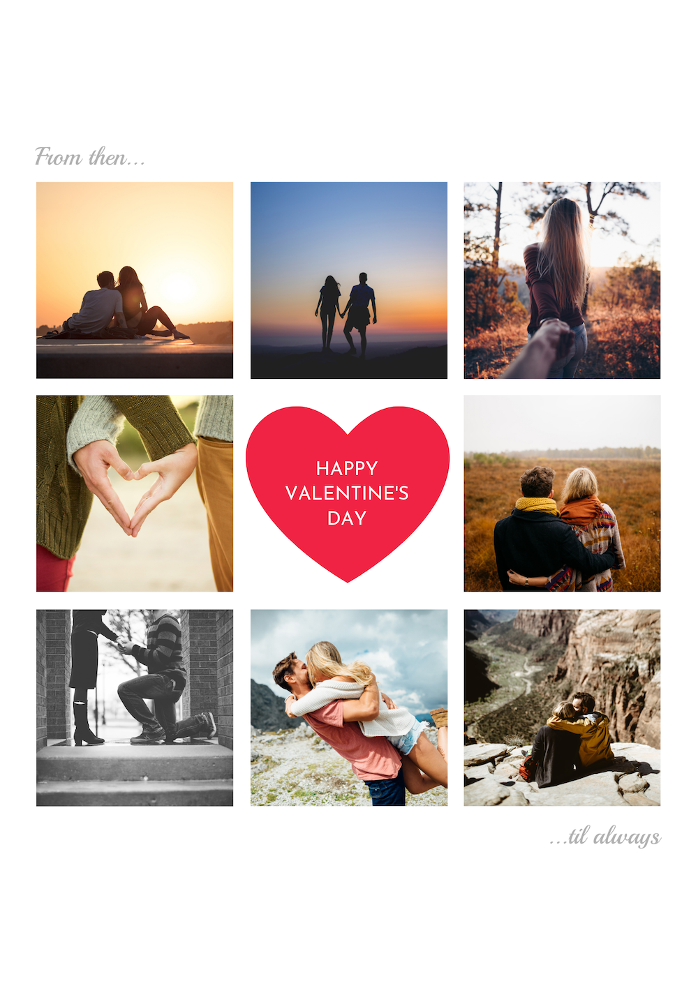 Photography Valentine S Day Card Template Display Your Love For Your Significant Othe Valentines Day Photos Photo Card Template Valentines Day Card Templates