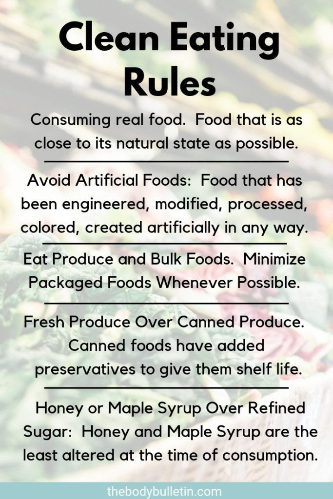 5 Simple Clean Eating Rules To Follow • The Body Bulletin