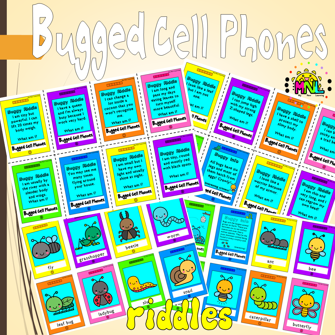 Bugged Cellphones Activity And Riddles Pack In