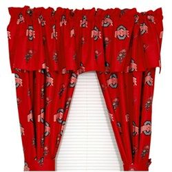 Ohio State University Buckeyes Window Treatments Curtains Printed Curtains Panel Curtains Ohio State Print