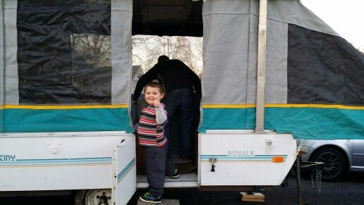 Tommy Gives It A Thumbs Up Our New Camper 1993 Destiny Royale
