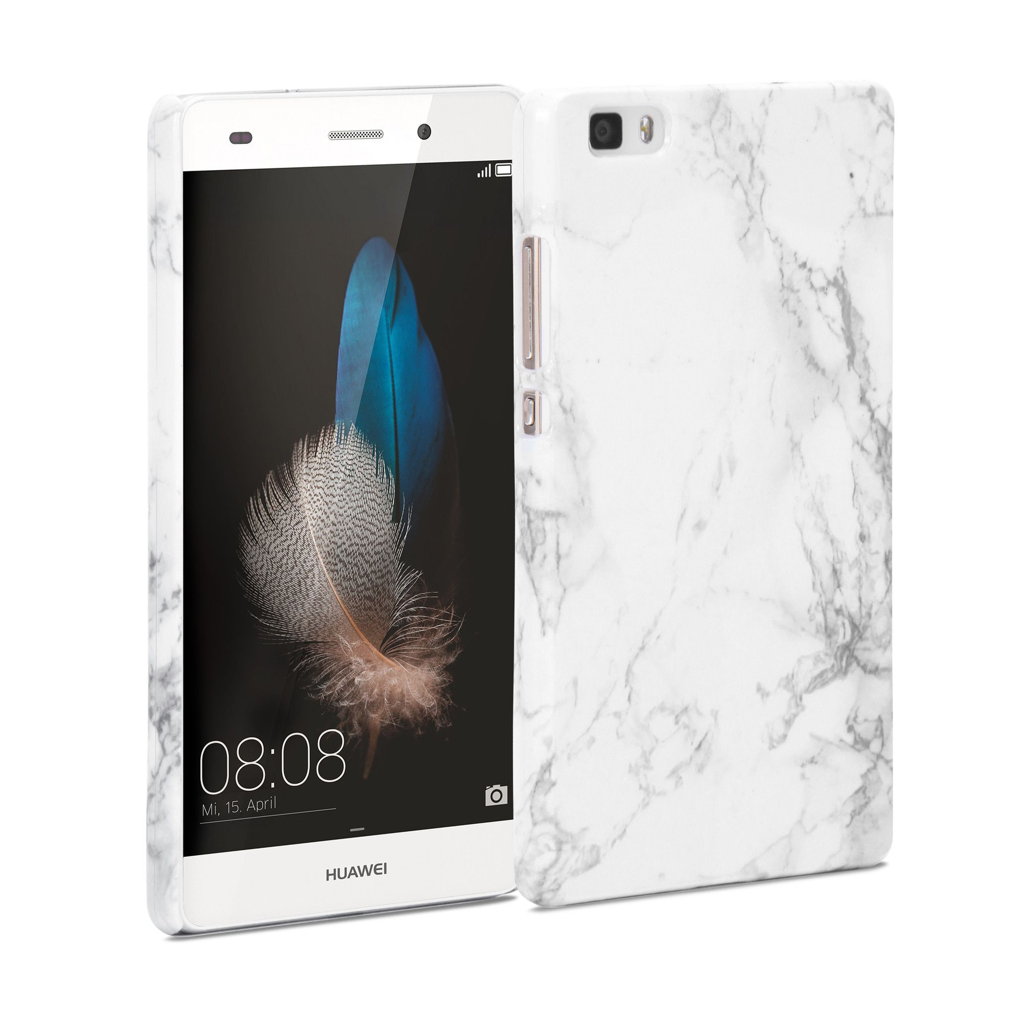 Snap Cover Glossy Marble Pattern For Huawei P8 Lite Hatterek