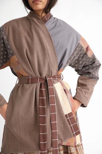 One of a Kind Kimono BROWN SUGAR Handmade