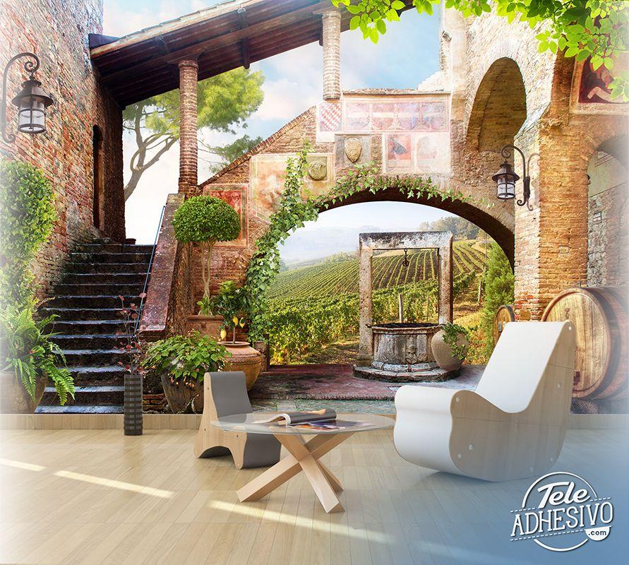 Fotomurales casa de campo antigua ideal para decorar for Fotomurales pared