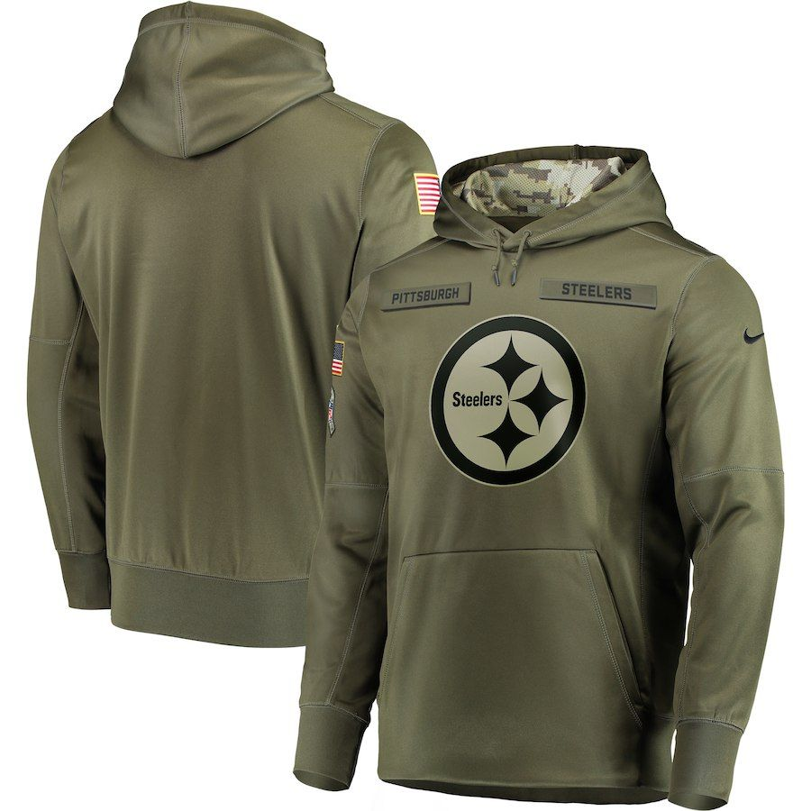 2018 Pittsburgh Steelers Salute to Service Hoodies by Nike. S 2135b56e1