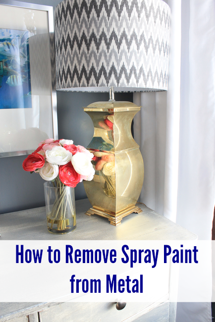 How To Remove Spray Paint From Metal Pretty Handy Girl Remove Paint From Metal Paint Remover Metallic Spray Paint