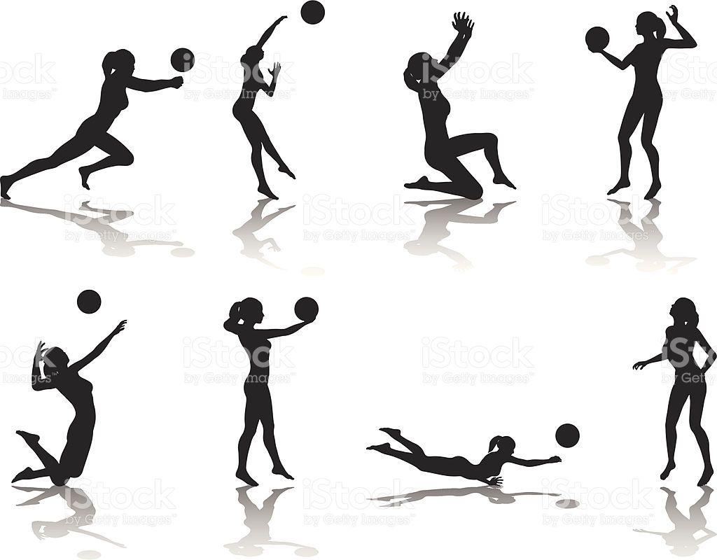 Colecao De Silhueta De Volei Vetor E Ilustracao Royalty Free Royalty Free Voleibol Dibujo De Voleibol Camisas De Voleibol