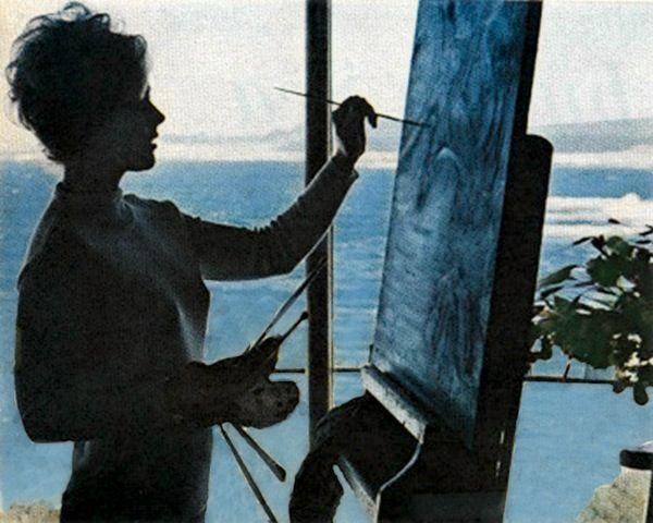 kim novak painting at her former home in carmel california learn rh pinterest com