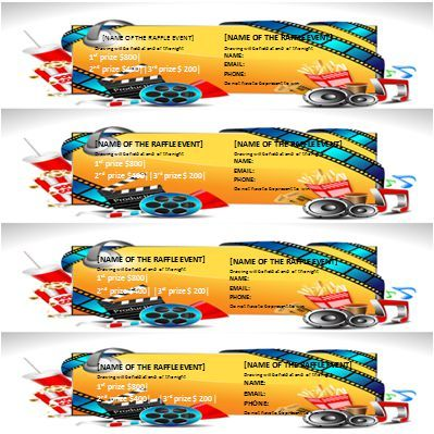 Raffle Ticket Template 8 Per Page Raffle Ticket Templates for - microsoft office ticket template