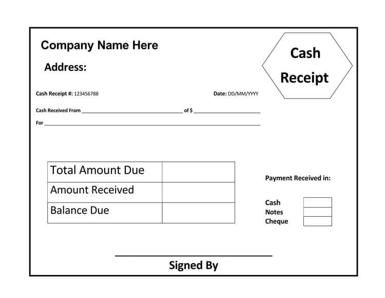 21 Free Cash Receipt Templates For Word Excel And Pdf In 2021 Receipt Template Invoice Template Cash