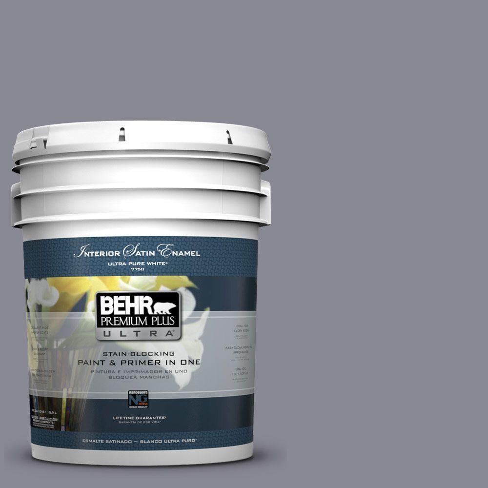 BEHR Premium Plus Ultra 5-gal. #PPU16-15 Gray Heather Satin Enamel Interior Paint