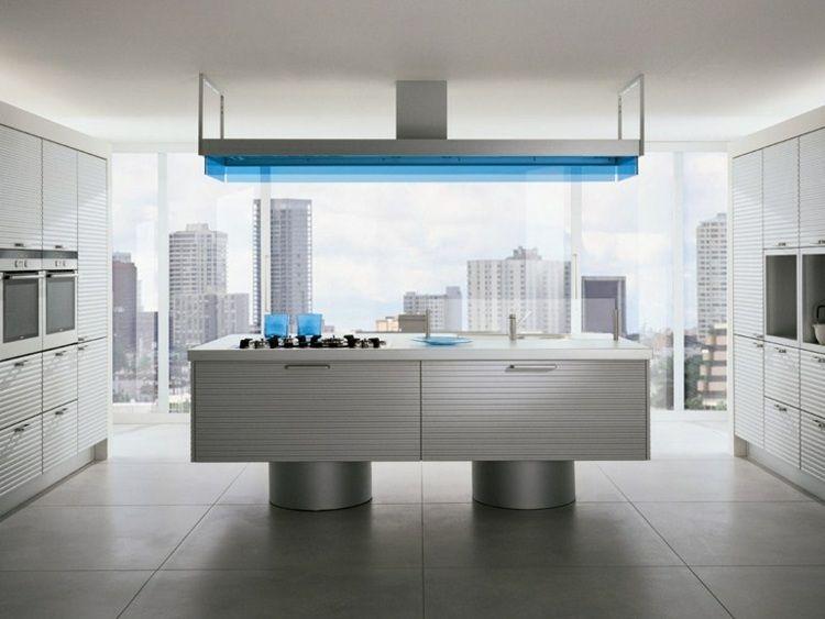 Aménager une cuisine design avec ilot central Cuisine design