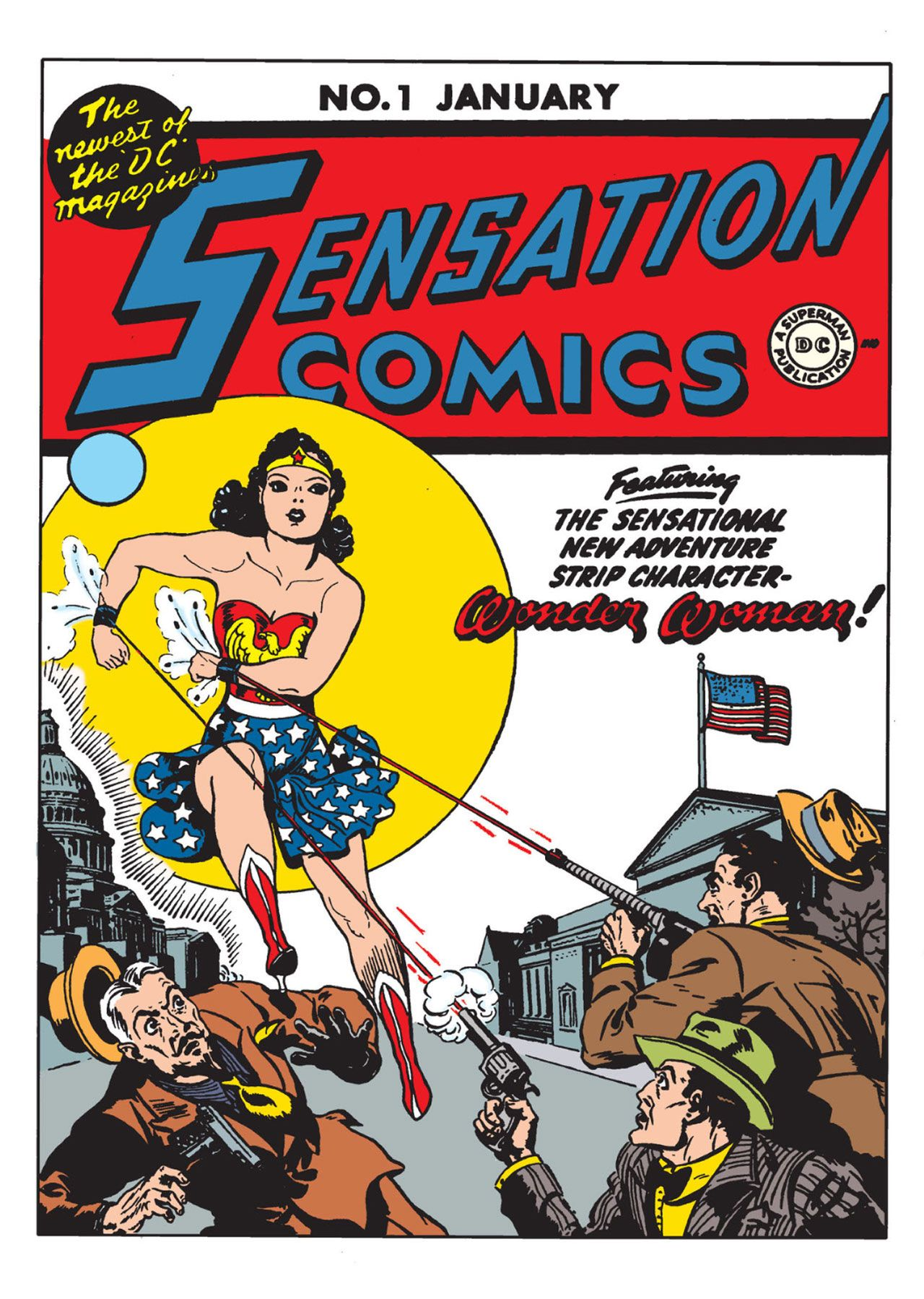 The 10 Most Patriotic Dc Comics Covers Ever Wonder Woman Comic Rare Comic Books First Wonder Woman